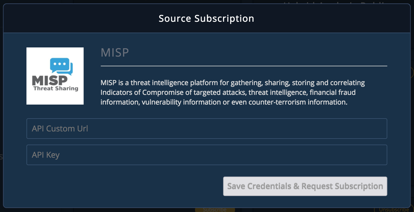 MISP Threat Intelligence Platform Integration - TruSTAR